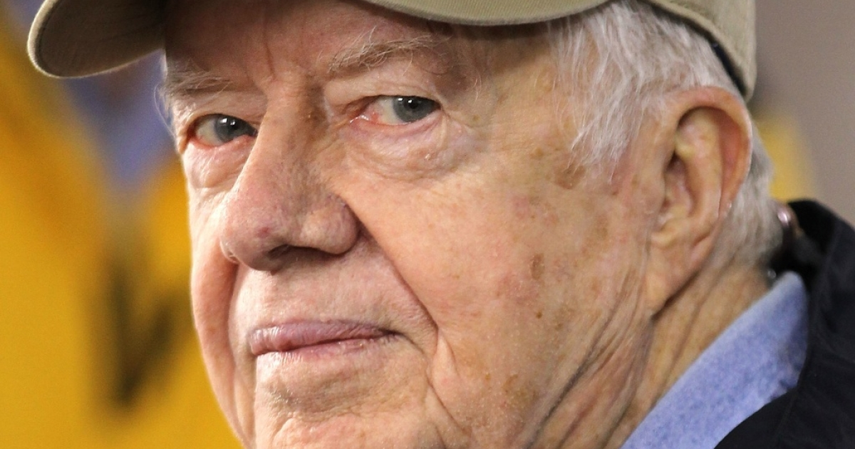 Former U.S. President Jimmy Carter on Oct. 4, 2010, in Washington, DC.</p>