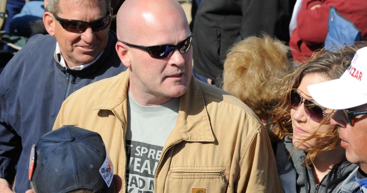 Samuel Joseph 'Joe the Plumber' Wurzelbacher at a Tea Party rally in Searchlight, Nev., on Mar. 27, 2010.</p>