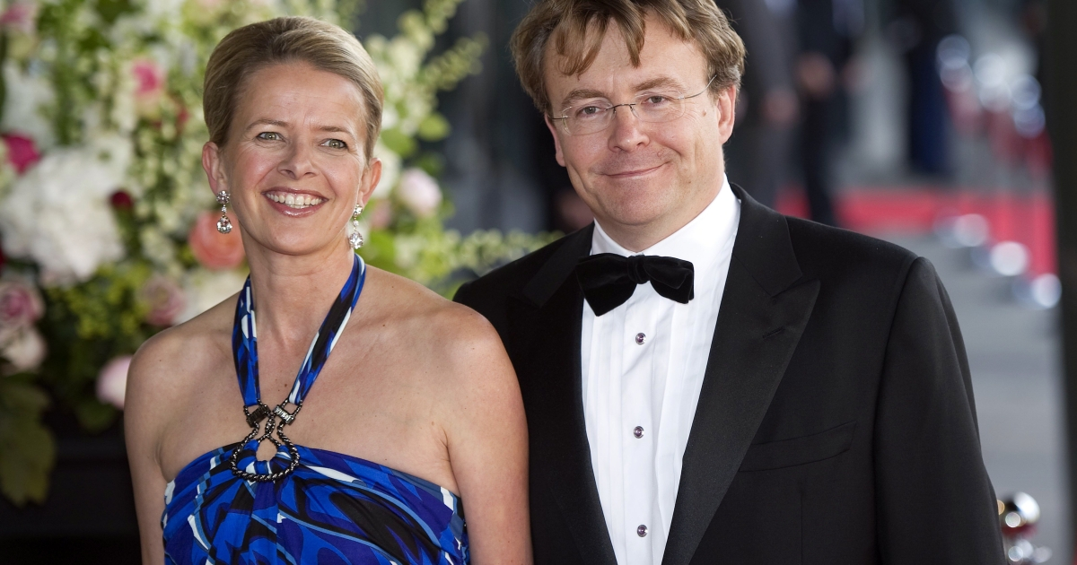 Dutch Prince Johan Friso photographed with wife Princess Mabel in May. On Friday doctors said the prince is in a coma and may never regain consciousness after being injured in an avalanche while skiing off-trail in Austria last week.</p>