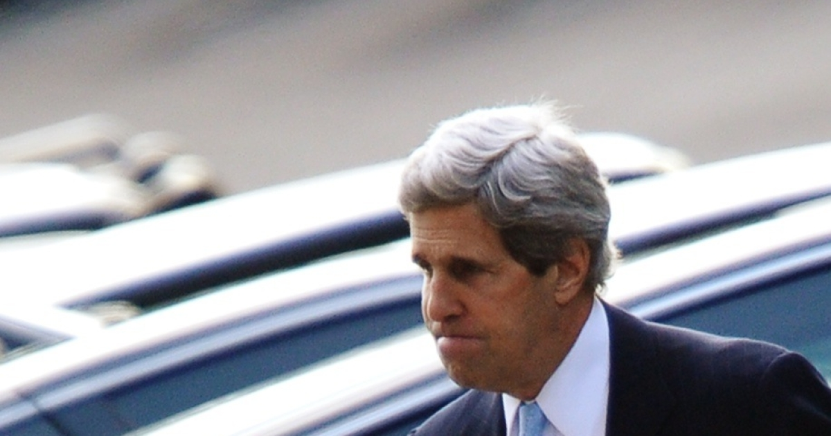 US Sen. John Kerry on his way into the West Wing of the White House.</p>