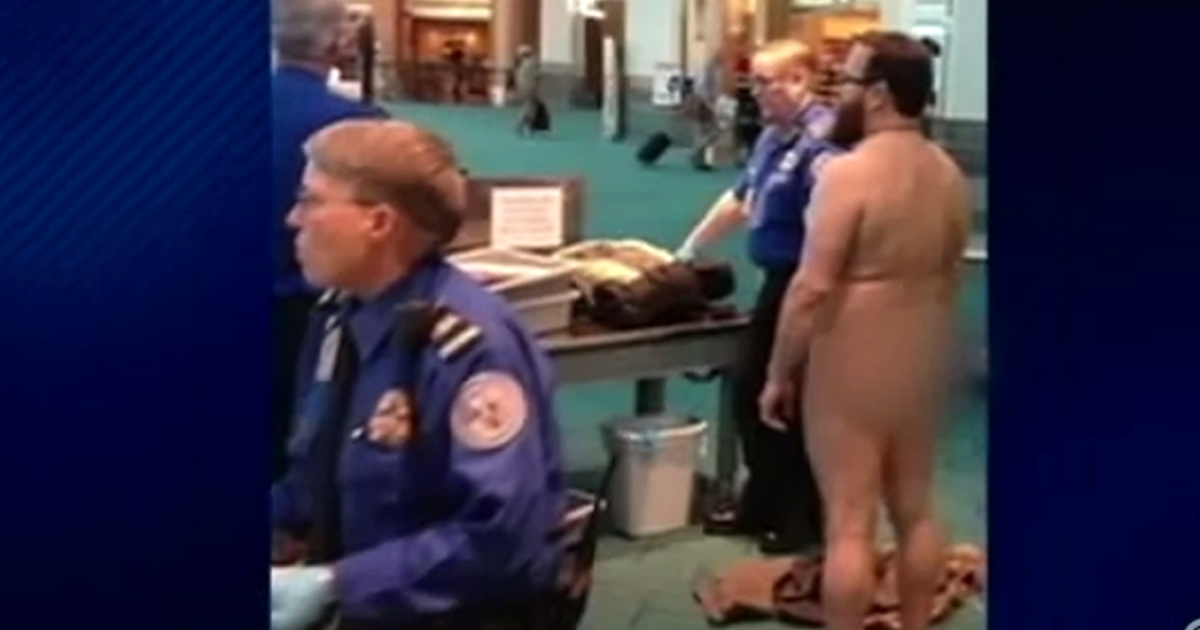 Brennan appears in this still image taken from a CNN-affiliate report on his naked protest.</p>