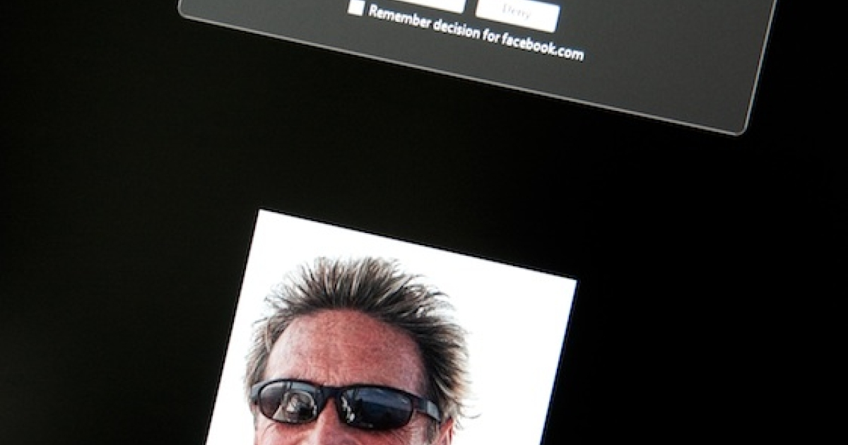 This photo taken today shows a Facebook page belonging to John McAfee (pictured).</p>