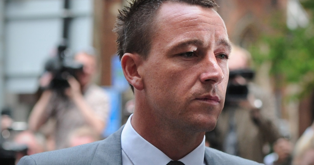 John Terry arrives at a London courthouse on July 13, 2012. The England and Chelsea defender was found not guilty of racially abusing rival Anton Ferdinand.</p>