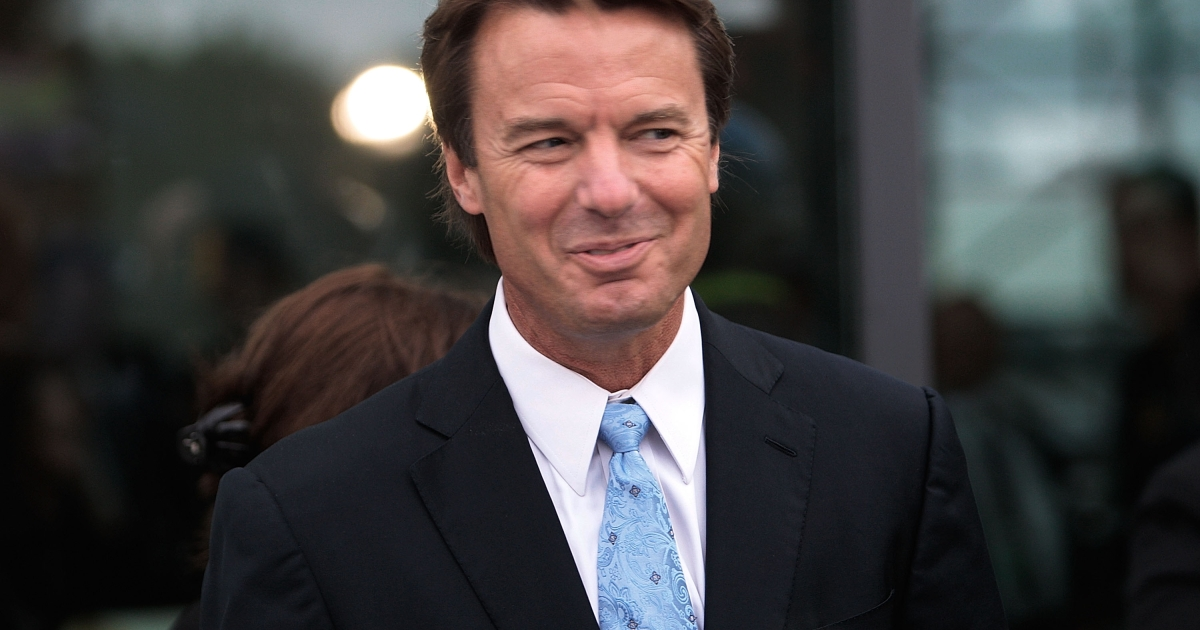 Former US senator John Edwards arrives at a memorial service for U.S. Sen. Edward Kennedy at the John F. Kennedy Presidential Library in August 2009 in Boston.</p>