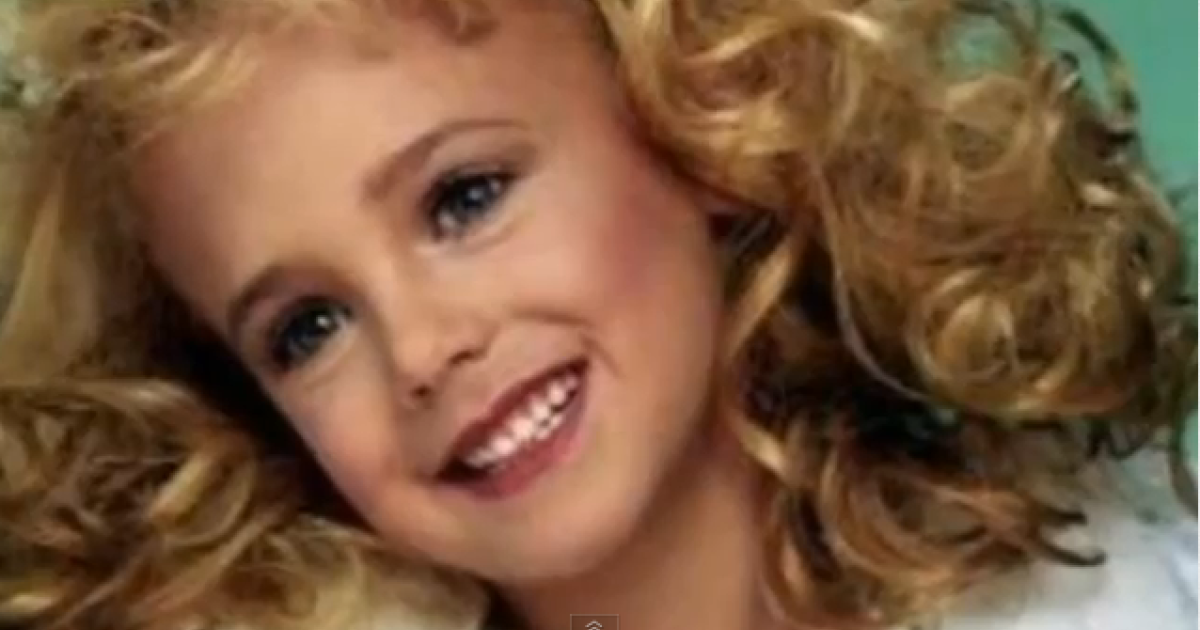 JonBenet Ramsey, the child beauty pageant queen who was murdered in her home in Boulder, Colorado in 1996.</p>
