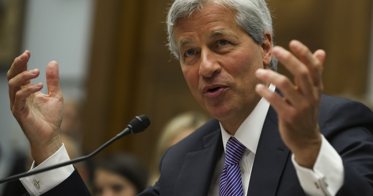 JPMorgan Chase CEO Jamie Dimon testifies during a US House Financial Services Committee hearing on Capitol Hill in Washington, DC, on June 19, 2012, about the investment bank's trading loss.</p>