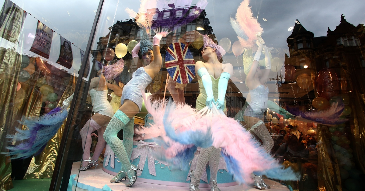 Topshop and Meadham Kirchhoff Jubilee Fashion Spectacular to celebrate the Jubilee at TopShop on June 1, 2012 in London, England.</p>