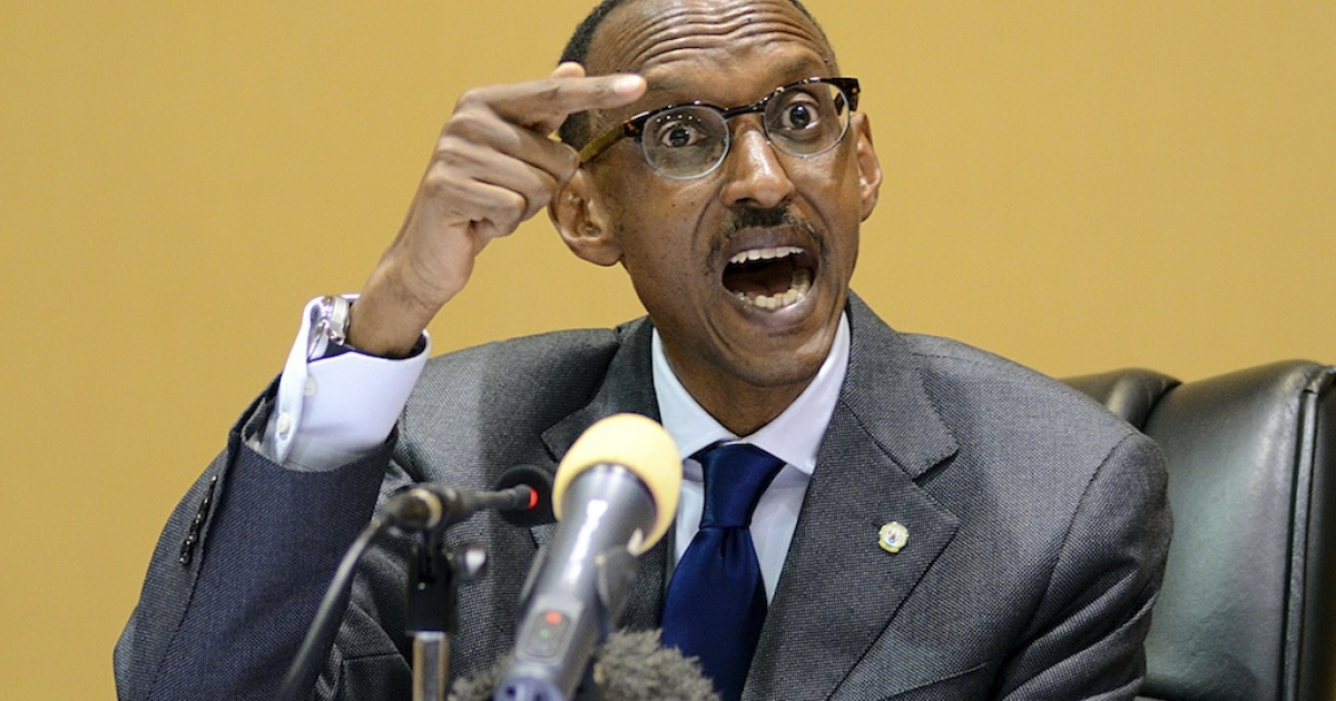 President of Rwanda Paul Kagame speaks during a press conference in the Ugandan capital, Kampala on December 12, 2011 a day after he received the Lifetime Achievement Award for inspiring the young generation in Africa to desire for change and better life.</p>