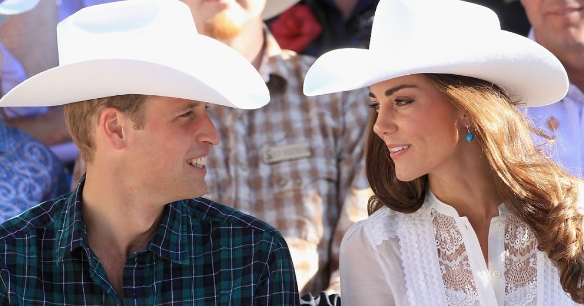 Kate and Will give a loving smile to each other at the Calgary Stampede on July 8, 2011 in Calgary, Canada.</p>