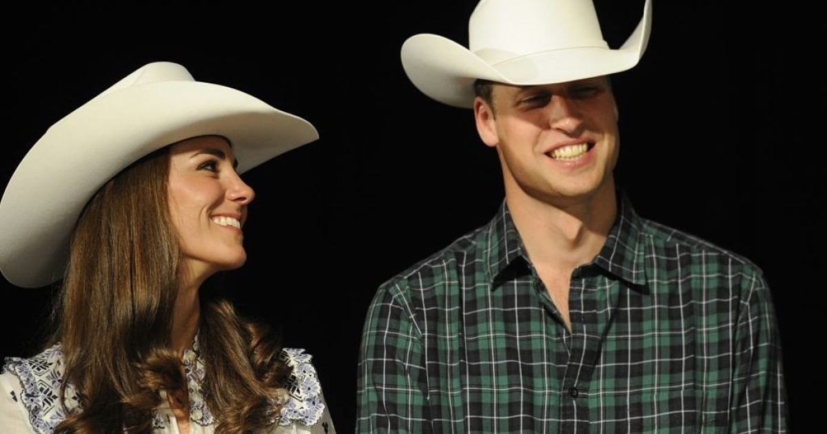 Kate looks lovingly at her new husband, Will, during a rodeo in Calgary, Canada on July 7, 2011.</p>