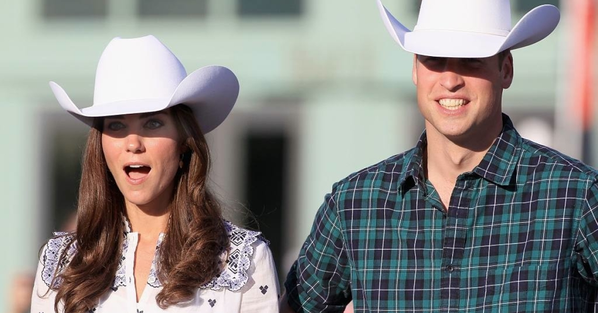 Kate and Will are in awe of some of the antics at the rodeo on July 7, 2011 in Calgary, Canada.</p>