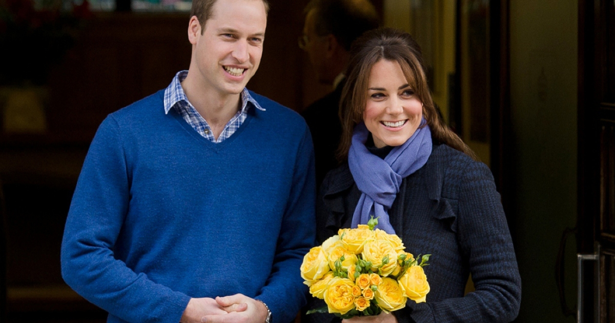 Prince William and and his wife Kate Dec. 6, 2012 outside King Edward VII hospital in London.</p>