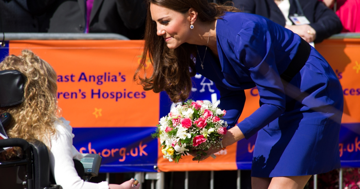 Catherine, Duchess of Cambridge arrives to officially open The Treehouse Children's Hospice on March 19, 2012 in Ipswich, England.</p>