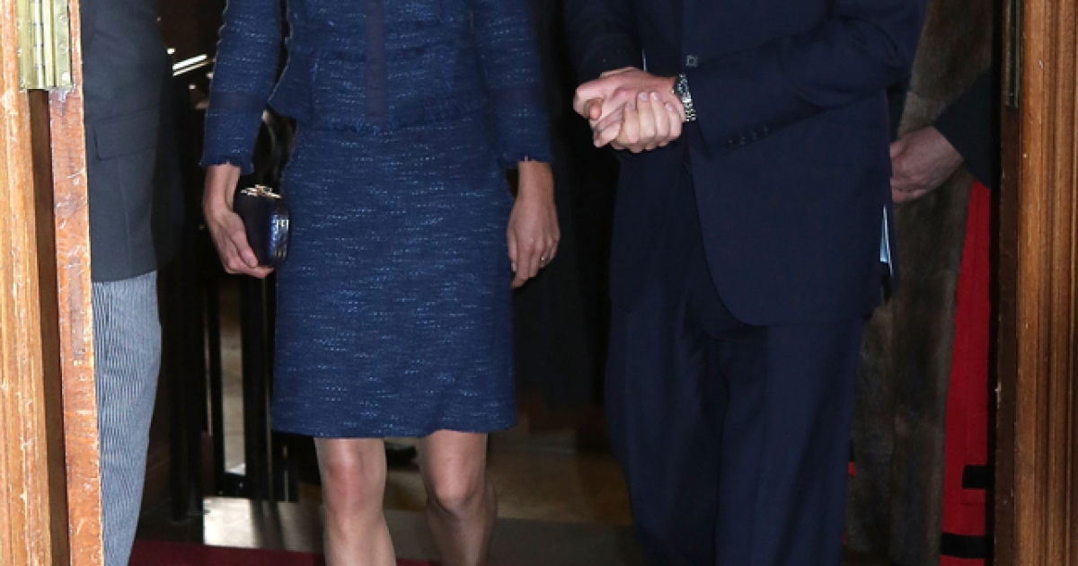 Catherine, Duchess of Cambridge and Prince William, Duke of Cambridge attend a Reception For The Scott-Amundsen Centenary Race at Goldsmiths Hall on April 26, 2012 in London, England, where their interactions with a newborn added fuel to their pregnancy rumors.</p>