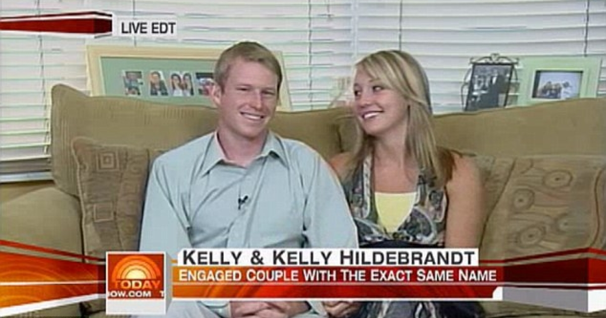 Kelly and Kelly Hildebrandt, who share the same first and last name, have filed for divorce. The couple appeared on the