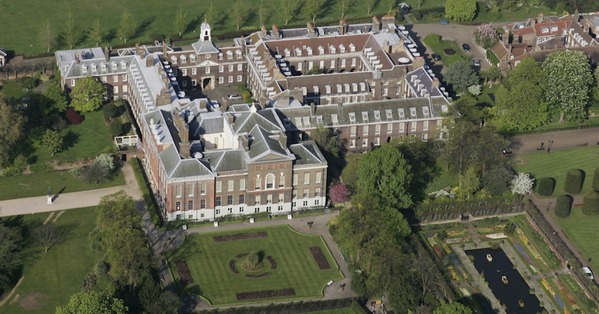 Kensington Palace in in the center of London, England. Britain's Prince William and his new wife, Catherine, will make an apartment in the palace their new home.</p>