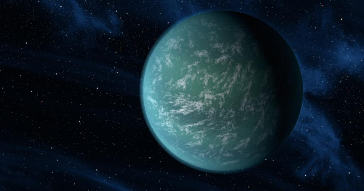 An artist's impression of Kepler-22b.</p>