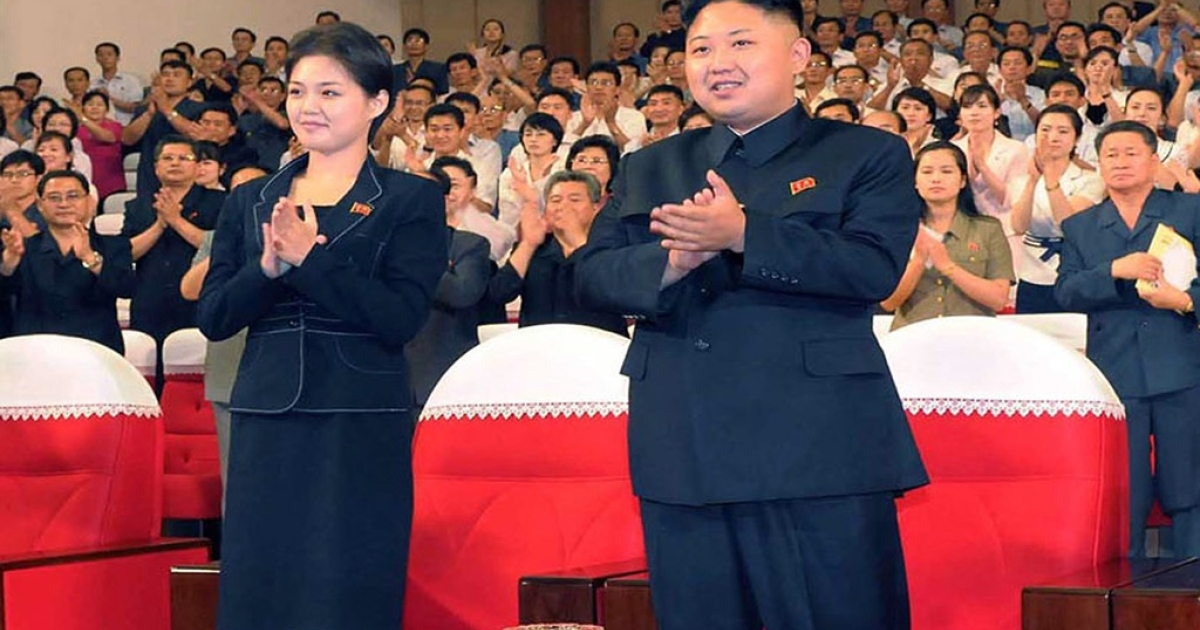 North Korean leader Kim Jong Un, accompanied by his new wife, Hyon Song-wol, enjoying a demonstration performance given by the newly organized Moranbong band in Pyongyang. Still, they've got nothing on Bochonbo Electronic Music Band.</p>