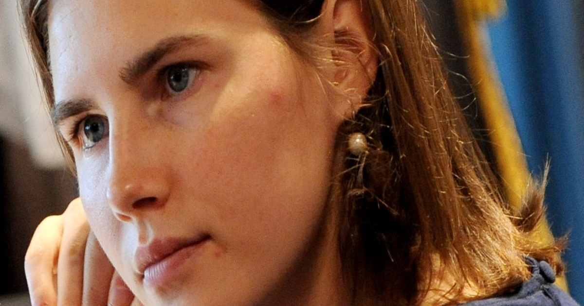 US defendant Amanda Knox sits on June 18, 2011 in court during her appeal trial at the Perugia courthouse.</p>
