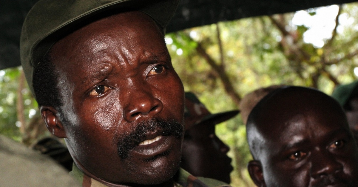 Joseph Kony, answering journalists' questions in Ri-Kwamba, southern Sudan, following a meeting with UN humanitarian chief Jan Egeland. The UN Security Council on January 16, 2009 strongly condemned recent attacks by Ugandan rebels of the Lord's Resistance Army in neighboring Democratic Republic of Congo and South Sudan and urged them to disarm. The 15-member body noted that these attacks 'have resulted in over 500 dead and over 400 abducted, as well as the displacement of over 104,000 people.</p>
