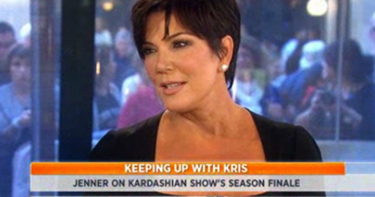 Kris Jenner was discussing her breast implants on the 'Today' show as the country observed a moment of silence for 9/11.</p>