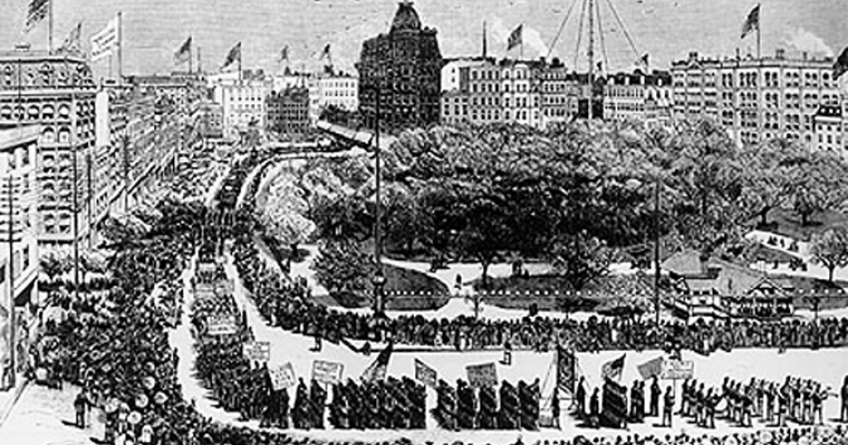 Labor Day in New York City in 1882.</p>
