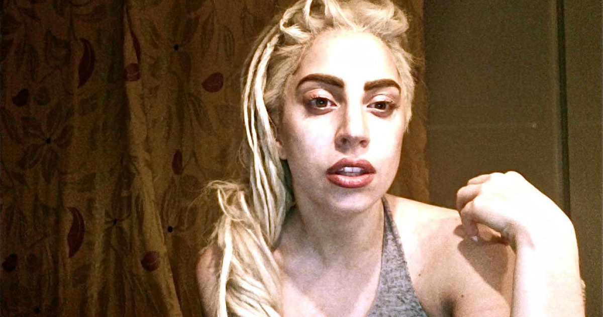 Lady Gaga sent out this photo of herself through Twitter after finding 35 fans singing and ringing her doorbell in Lima, Peru, on November 22, 2012.</p>