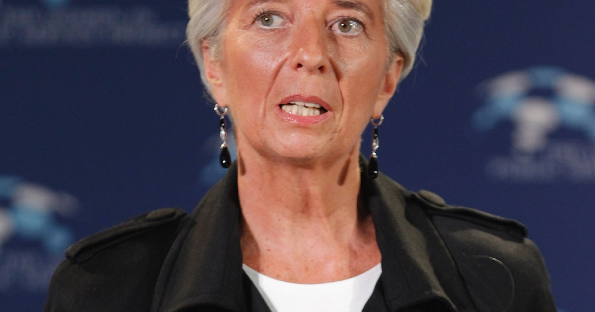 IMF chief Christine Lagarde addressing the Women In Public Service event at the Department of State December 15, 2011 in Washington, DC.   Lagarde said another depression was not out of the question.</p>