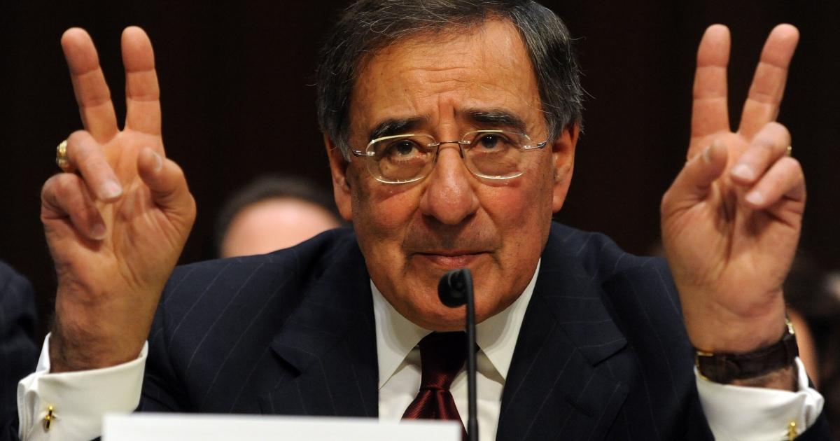 Leon Panetta, Director of the Central Intelligence Agency testifies before the Senate Select Committee on Intelligence on Feburary 16, 2011 on Capitol Hill in Washington, DC.</p>