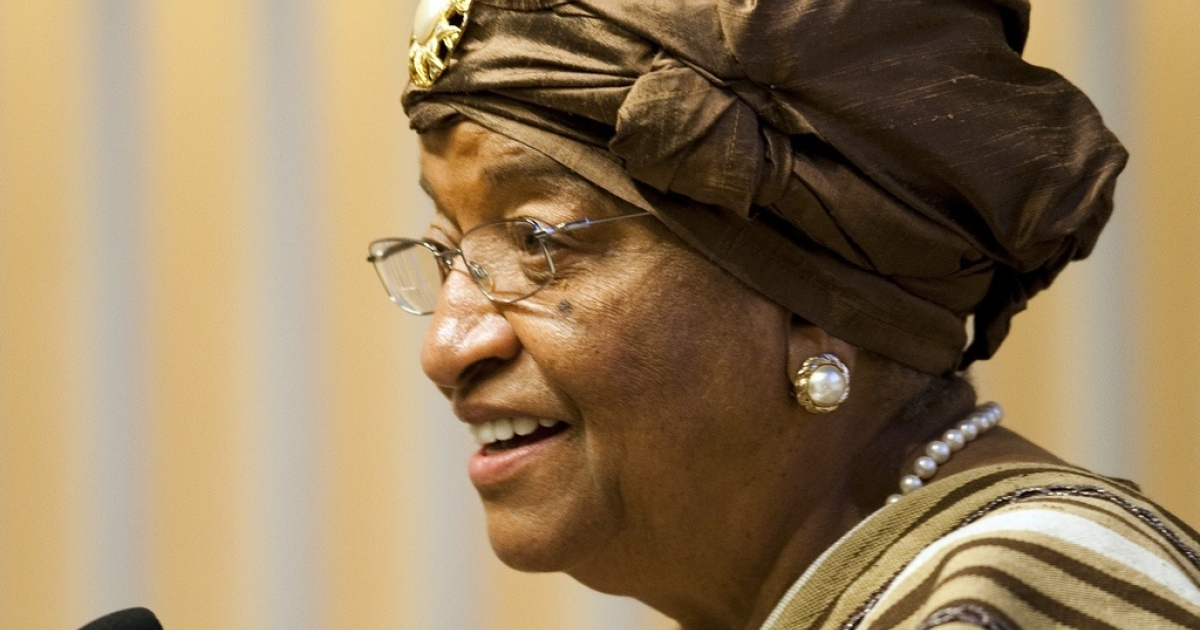 Liberian President Ellen Johnson Sirleaf is running for a second term in the Oct. 11 election in which she faces 15 challengers.</p>