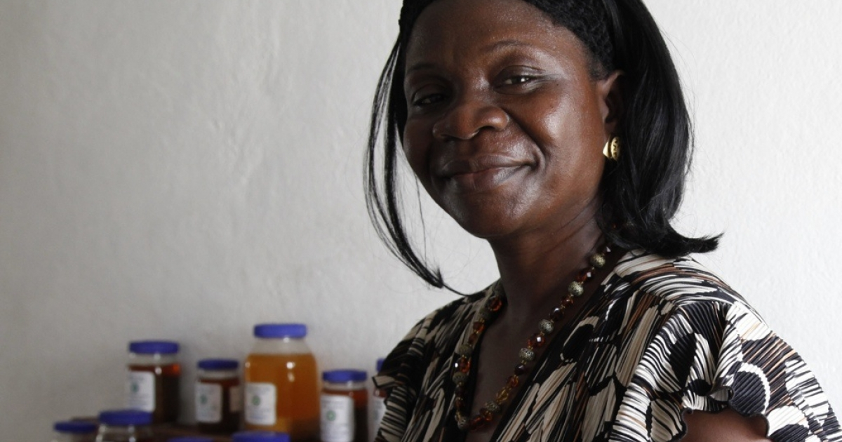 Liberian food processing entrepreneur Martha Partor.</p>