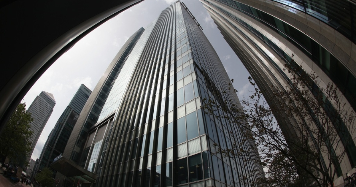 The headquarters of Barclays Bank in London, England.</p>