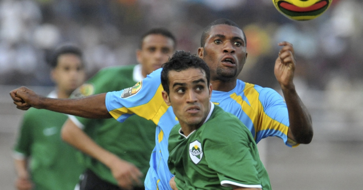 Libya's national soccer team plays the Democratic Republic of Congo on February 23, 2009 during the first African Nations Championship tournament held in Ivory Coast. There are reports that members of Libya's national soccer team have defected to the rebels.</p>