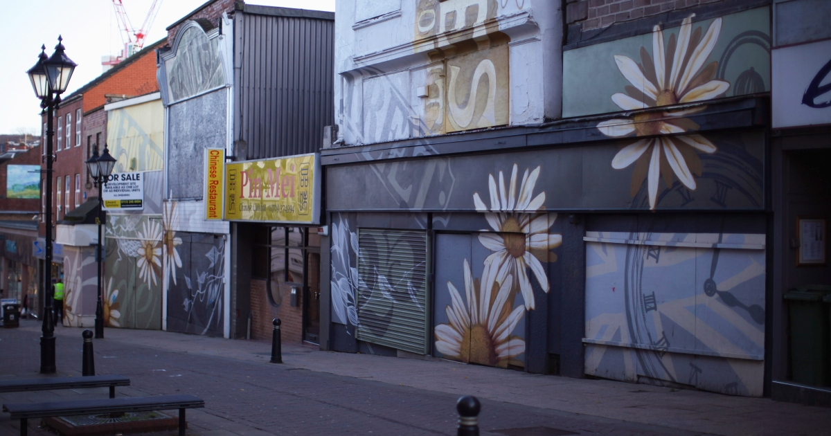 Boarded up shop fronts in Rotherham in northern England underscore the rising unemployment rate but do they say much about Britain's statistically high standard of living?</p>