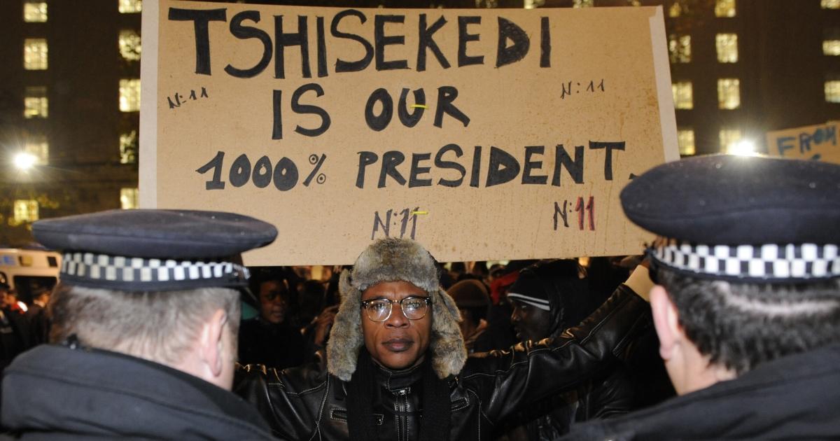 Over 140 people were arrested after demonstrations against President Joseph Kabila's reelection turned violent in London.</p>