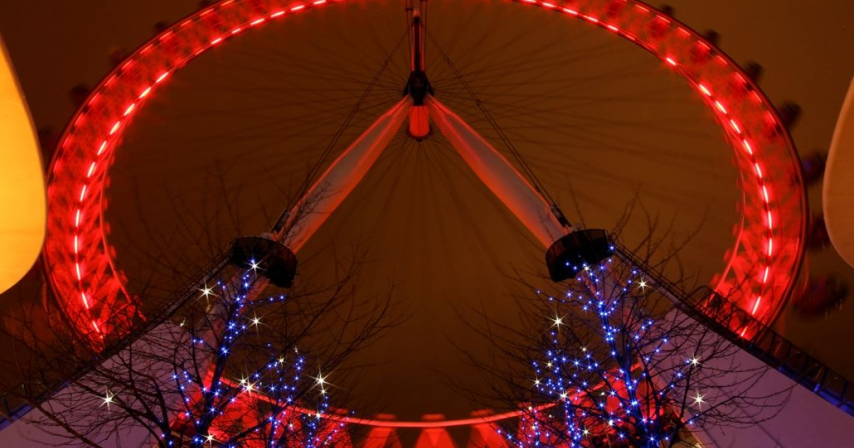 The London Eye turns (RED) on World AIDS Day to support an AIDS Free Generation by 2015.</p>