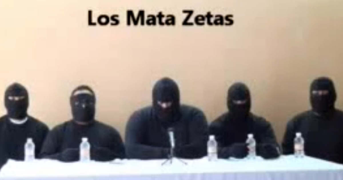 A screen capture of a paramilitary group that calls itself the