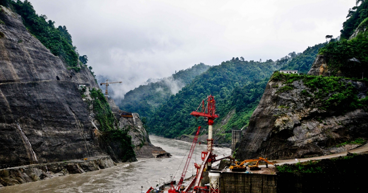 The Lower Subansiri Dam project is under construction in northeast India. The dam is expected to supply a 2,000 megawatt power station with water when completed in 2014. If all goes as planned, it will be the largest hydroelectric project in India.</p>