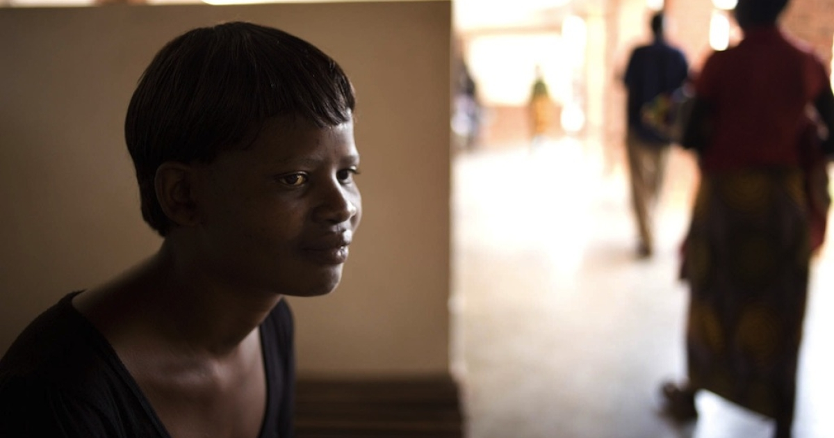 Lucy Sakala, in June, at the Salima District Hospital in Malawi.</p>
