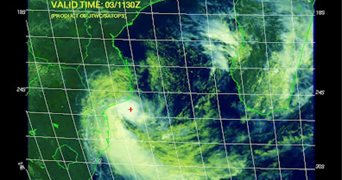 Image by the South Africa Weather and Disaster Observation Service, posted on the World Weather Post website.</p>