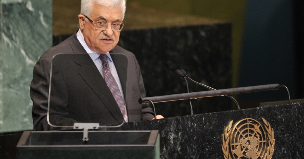 Mahmoud Abbas, President of the Palestinian Authority, speaks during the 67th session of the United Nations General Assembly September 27, 2012 at UN headquarters in New York.</p>