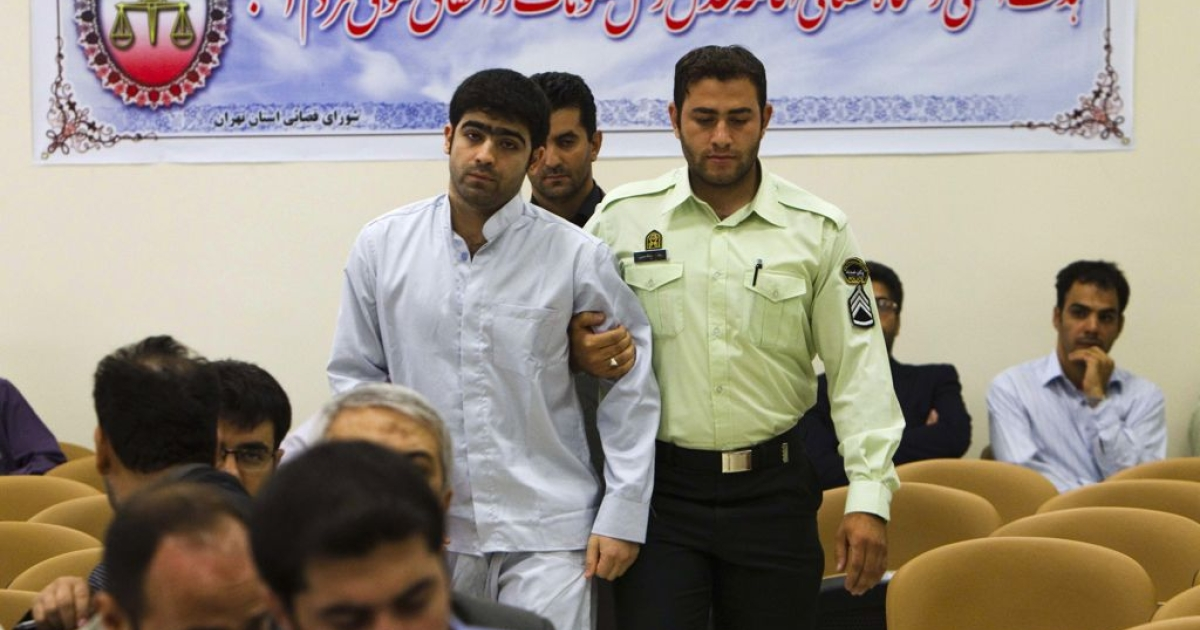 Majid Jamali Fashi at his trial in Tehran in August 2011. He was sentenced to death for allegedly assassinating a nuclear scientist, and executed this morning.</p>
