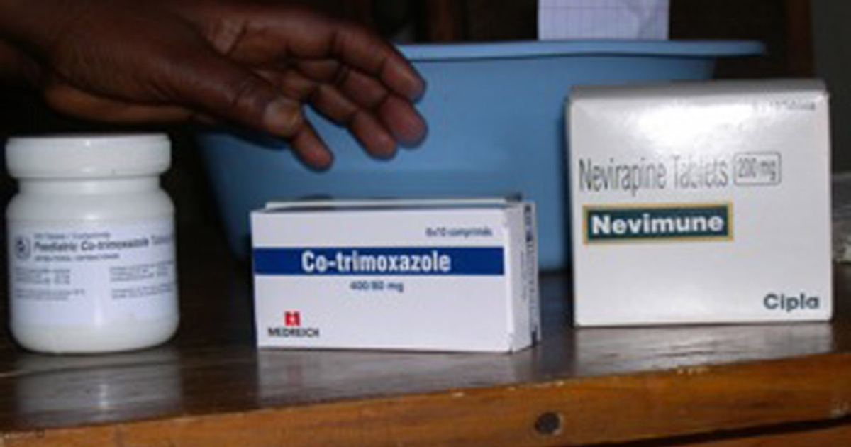 HIV/AIDS drugs at Salima District Hospital, Malawi.</p>