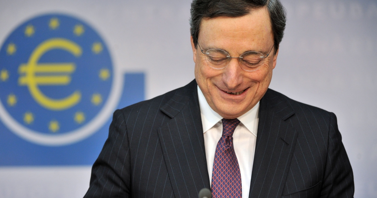 ECB President Mario Draghi is credited with having staved off a credit crunch and calming financial markets by making more than half of a trillion euros worth of cheap three-year loans available to hundreds of banks across the EU in December and February.</p>