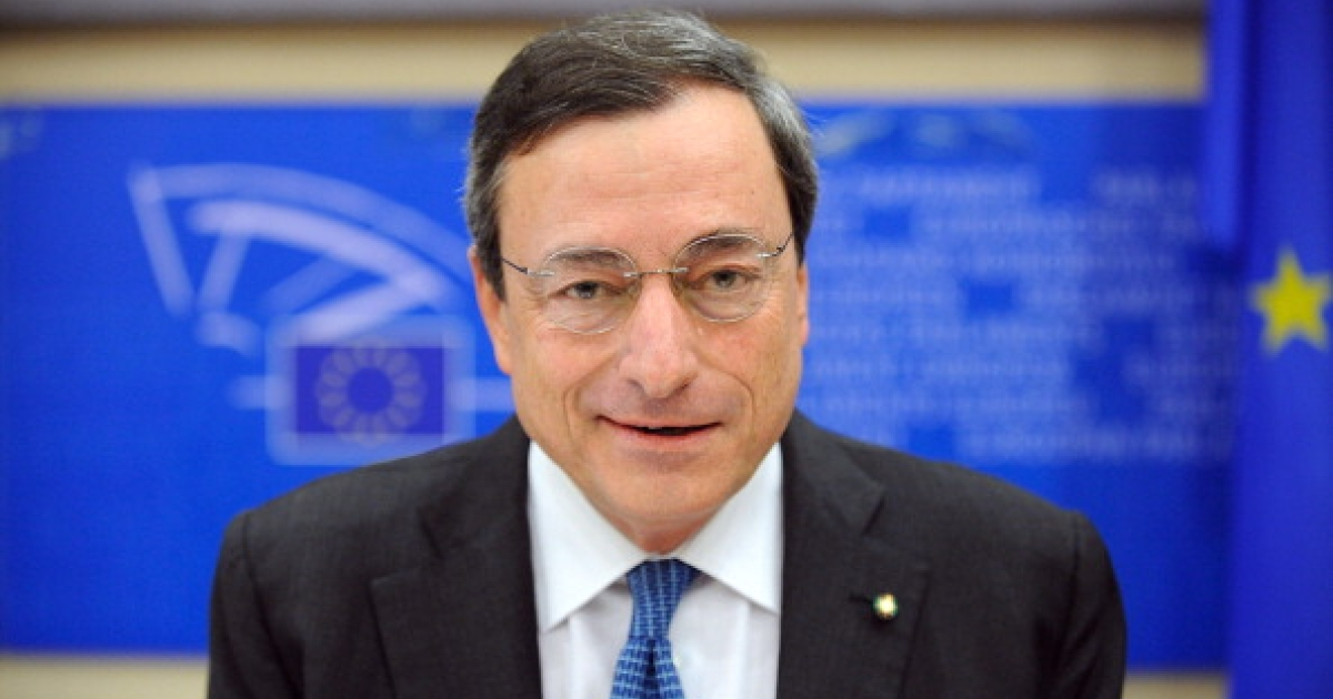 Italian banker Mario Draghi, who has been nominated to take over as European Central Bank president, poses before appearing before the European Parliament's monetary and economic affairs committee at the EU headquarters in Brussels on June 14, 2011.</p>