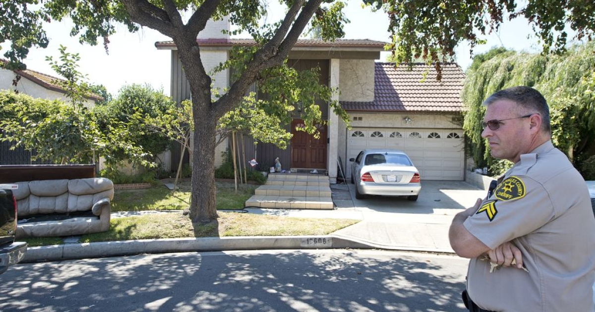 Mark Basseley Youssef's house in Cerritos, California. The Egyptian-American is suspected of producing the anti-Islam movie that provoked outrage across the world.</p>