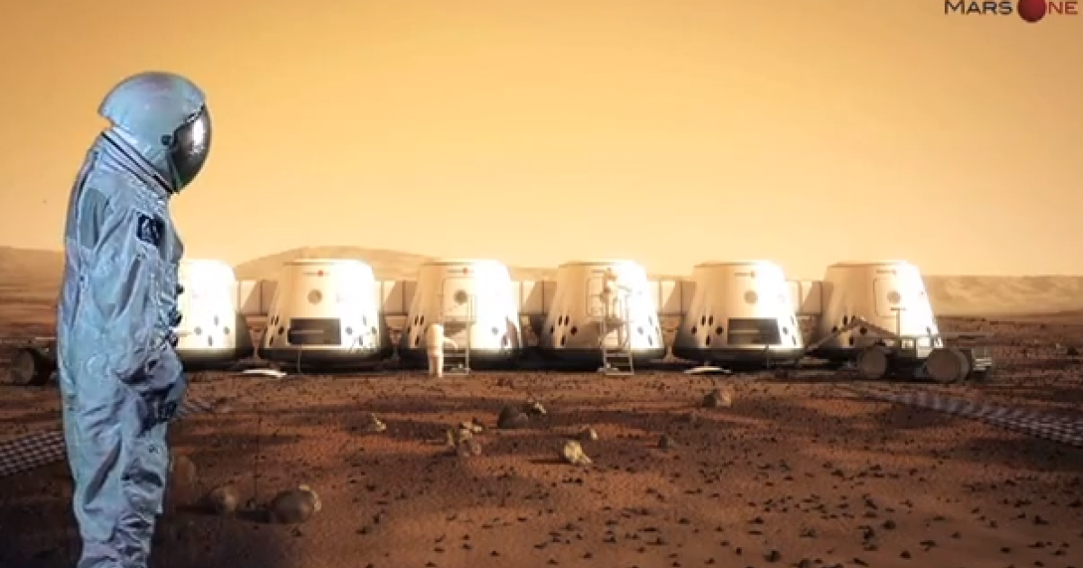 Screenshot from the promotional video for the Mars One mission.</p>