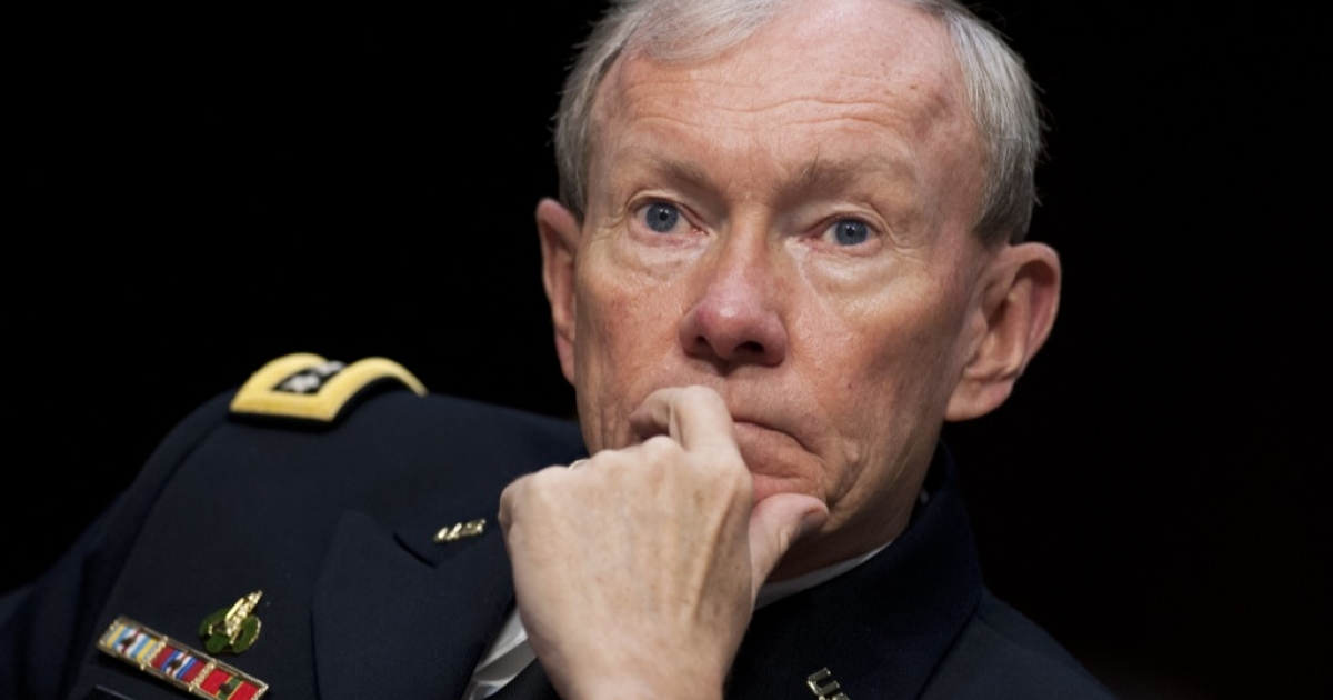 General Martin Dempsey was in Afghanistan to discuss the state of the war after a particularly deadly few weeks for Americans in the more than 10-year-old war.</p>