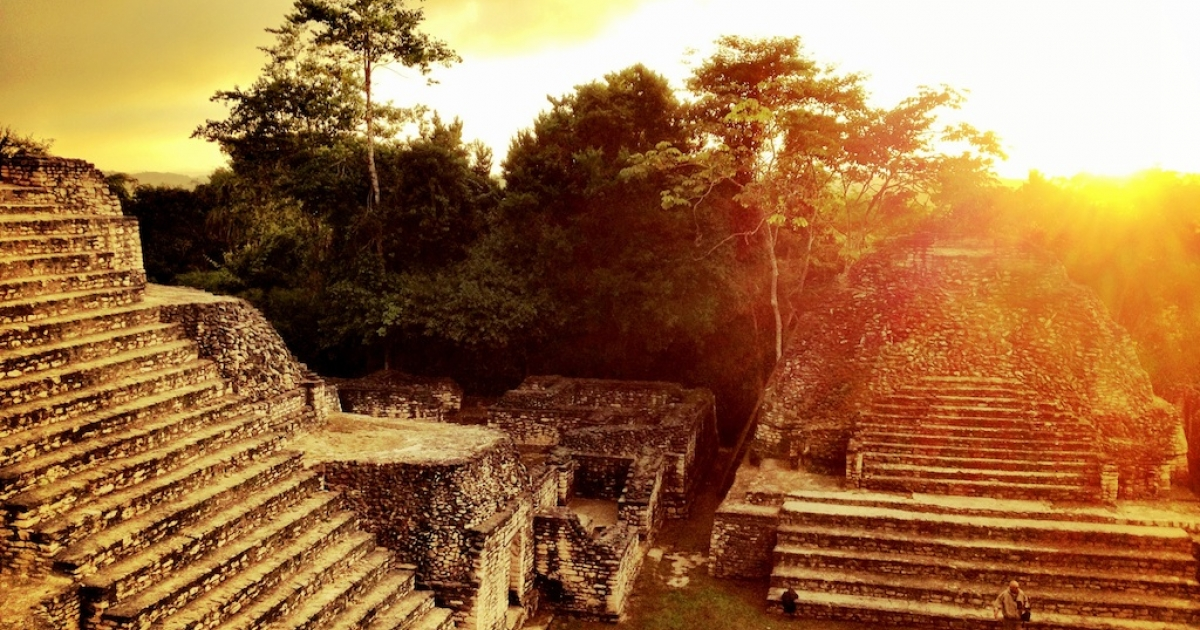 Caana, or Sky Temple, at Caracol archaeological site in western Belize, is one of the largest, most impressive pyramids in the Maya world.</p>