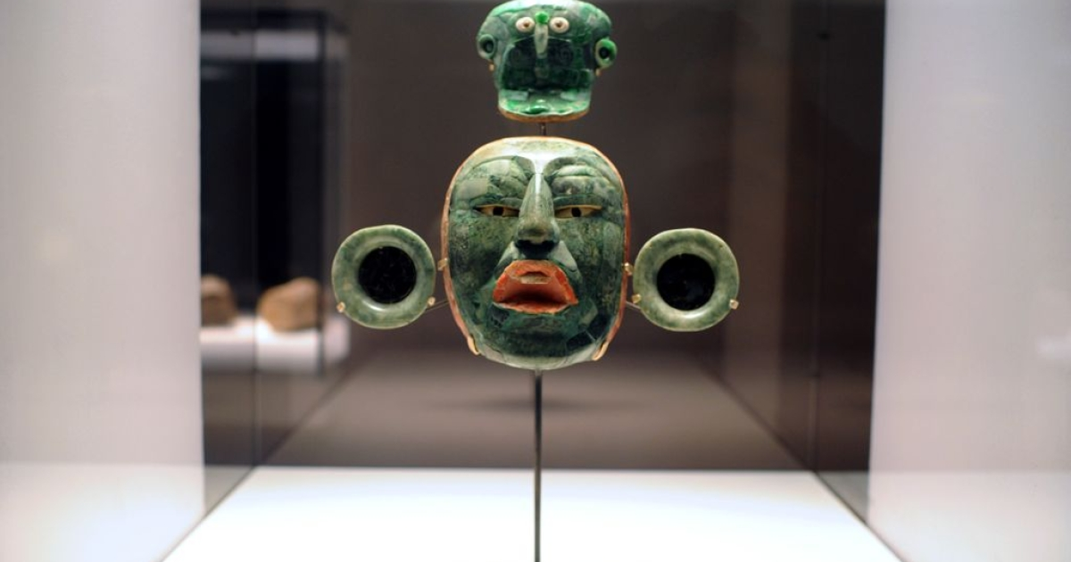 Mayan artefacts: pretty freaky. This isn't Quauthemoc, the